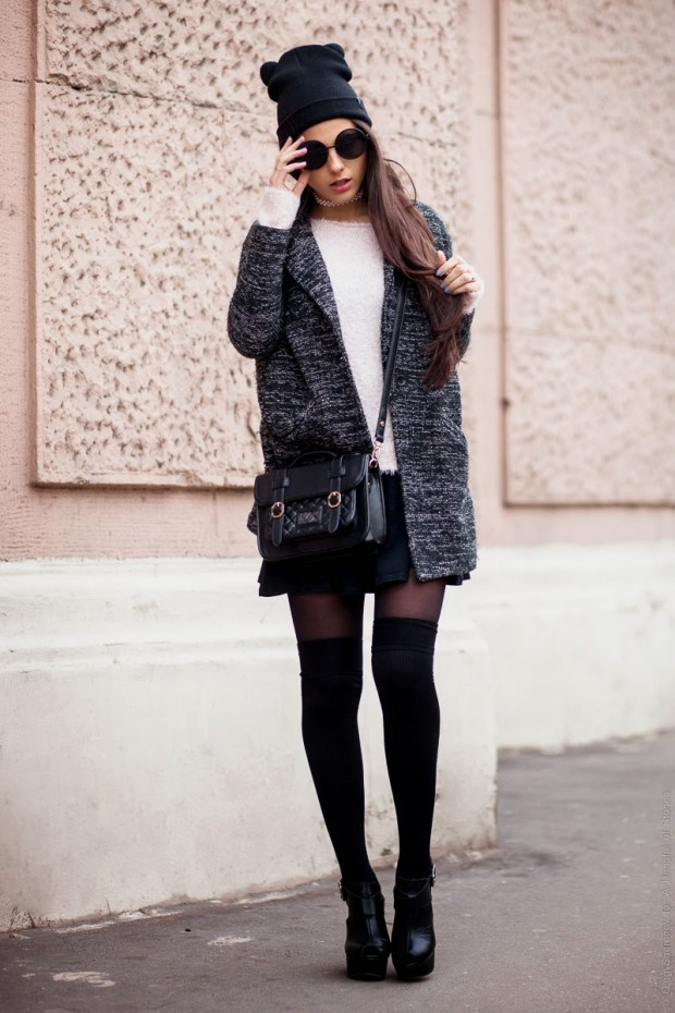 How Fashion Bloggers Wear Knee High Socks: 19 Outfit Ideas