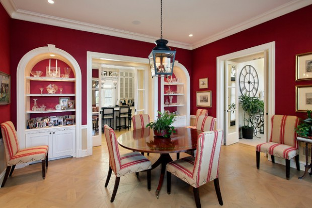 Sophisticated Elegance: 23 Red and White Interior Design Ideas