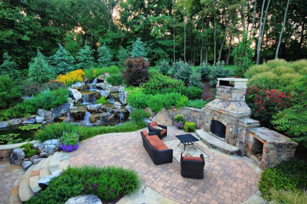 Backyard Waterfalls Ideas backyard waterfalls 20 Relaxing Backyard Waterfall Ideas