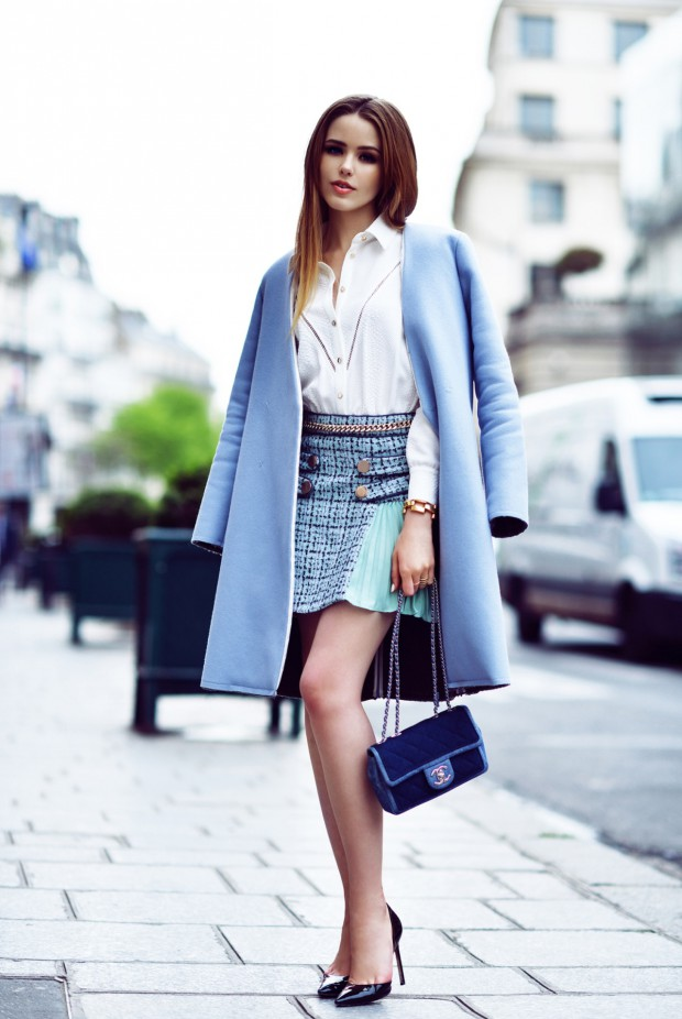 20 Street Style Outfits with Coats in Pastel and Bright Colors for the Last Days of Winter