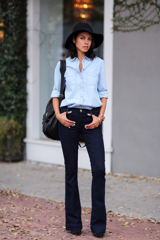 How to Wear a Denim Shirt in 20 Different Ways This Season