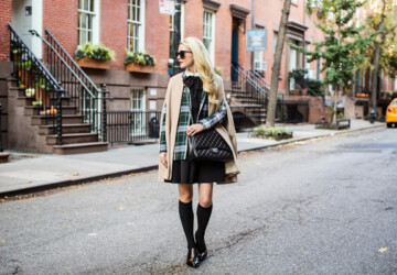 How Fashion Bloggers Wear Knee-High Socks: 19 Outfit Ideas - style tips, style tip, style, socks, over the knee boots, outfits, Outfit ideas, outfit idea, outfit, knee socks, Knee High Socks, fashion bloggers, fashion blogger, fashion