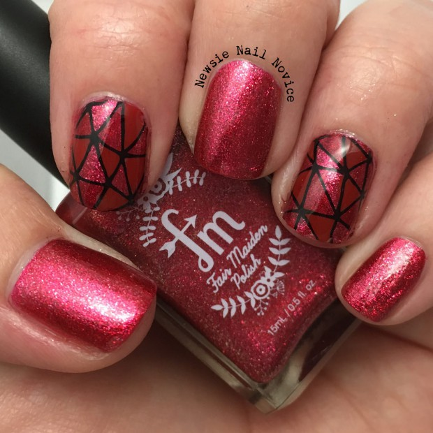 18 Creative Unique Red Nail Art Ideas