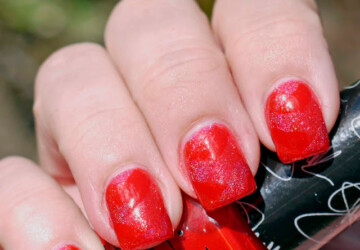 18 Creative Unique Red Nail Art Ideas - red nail polish, red nail art, red, nail art ideas