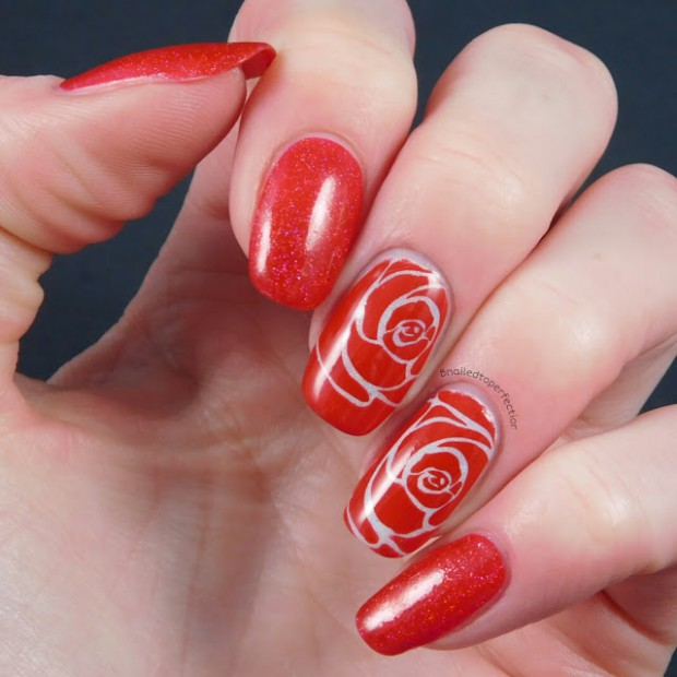 18 Creative Unique Red Nail Art Ideas - Style Motivation