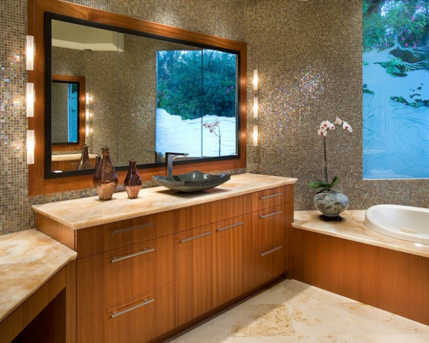 23 Authentic Mosaic Tile Bathroom Ideas
