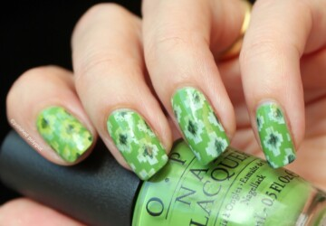 18 Cool Green Nail Art Ideas in Different Shades - nail art ideas, green nail polish, green nail art