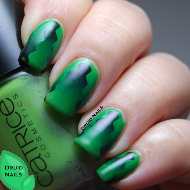 18 Cool Green Nail Art Ideas in Different Shades