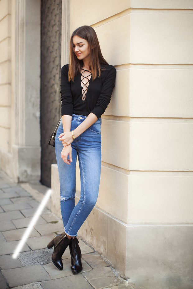 17 Ways to Style Lace Up Top This Season