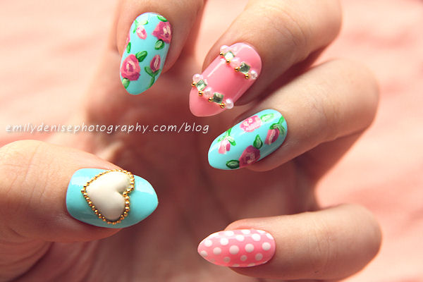 Flowers on Your Nails  20 Nail Art Ideas Ideal for Spring