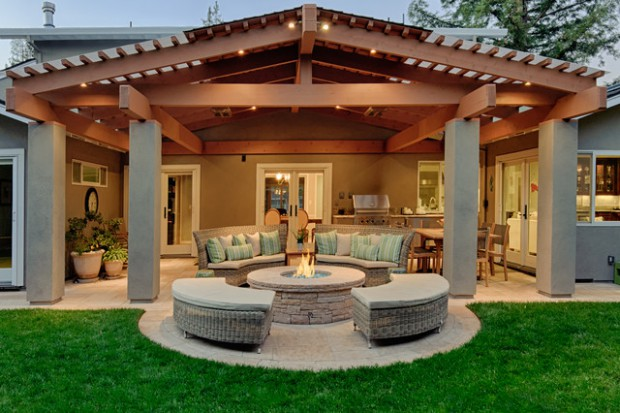 20 stunning backyard fire pit patio design ideas - Patio Design Ideas With Fire Pits