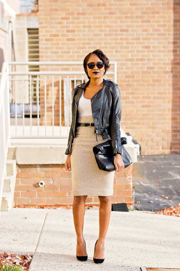 18 Ways to Style Your Favorite Leather Jacket with Skirt