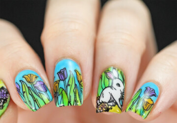 Nail Art Inspired by Spring: 18 Gorgeous Nail Designs - spring nail design, spring nail art, Spring nail, floral nail art