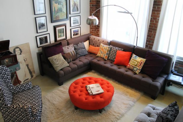 20 Gorgeous Living Room Design Ideas with Tufted Ottoman Coffee ...