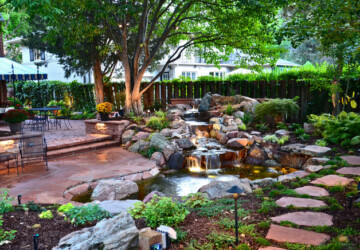 18 Landscaping Backyard Waterfall Design Ideas - waterfall, landscaping waterfall, backyard waterfall, Backyard Landscaping Ideas