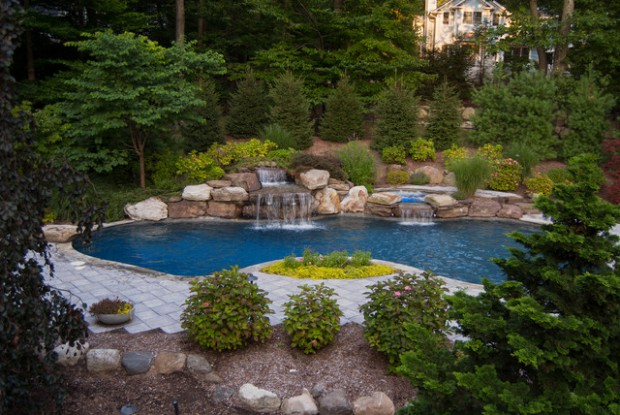 18 landscaping backyard waterfall design ideas - Waterfall Design Ideas