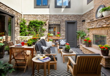 19 Stunning Courtyard Design Ideas with Cozy, Intimate Atmosphere - outdoor living room, courtyard design ideas, courtyard