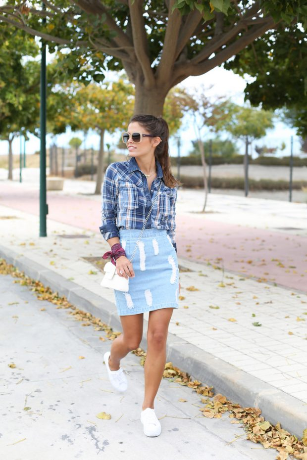 21 Stylish Ways to Wear Your Favorite Sneakers with Skirts and Dresses