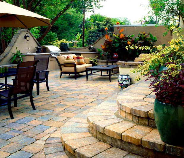 18 Amazing Stone Patio Design Ideas for Your Backyard