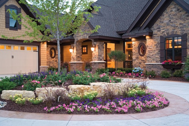 20 Beautiful Stone Exterior Design Ideas