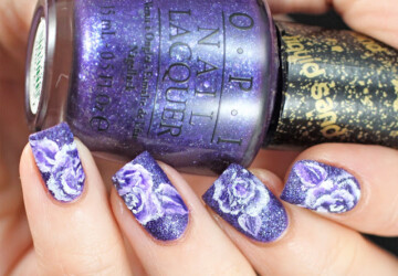 17 Creative Ways to Use Violet Nail Polishes for Romantic Nail Art - violet nail art, violet, romantic nail art, purple nail art ideas, Nail Polishes, nail art ideas