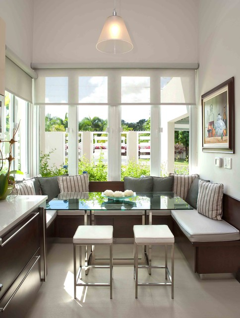 18 Functional and Space  Saving Build In Breakfast Nook Design Ideas