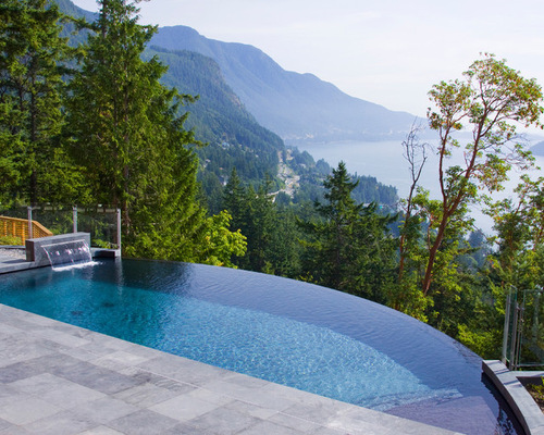 21 landscape small backyard infinity pool design ideas style motivation - Infinity edge swimming pool ...