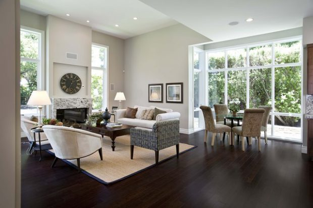 18 Stunning Dark Hardwood Flooring Interior Design Ideas