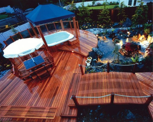 18 stunning decks and patios design ideas with hot tubs for Hot tub deck designs plans