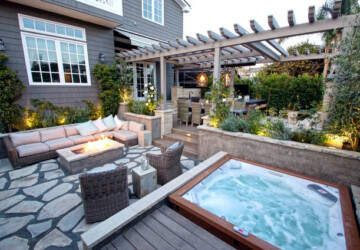 18 Stunning Decks and Patios Design Ideas with Hot Tubs - Patios Design Ideas with Hot Tubs, patio design ideas, outdoor hot tubs, Hot Tubs, Decks Hot Tubs, Decks and Patios Hot Tubs, Decks and Patios Design Ideas with Hot Tubs, deck design idea
