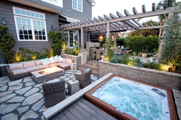 Elegant 18 Stunning Decks And Patios Design Ideas With Hot Tubs