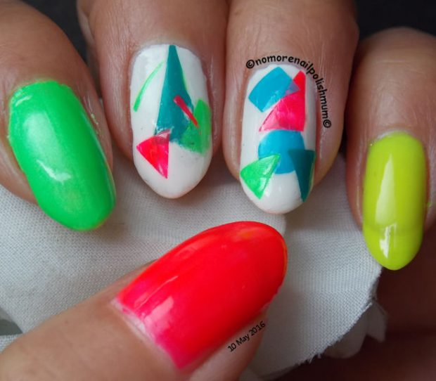 Make a Statement This Season: 16 Pretty Neon Nail Designs