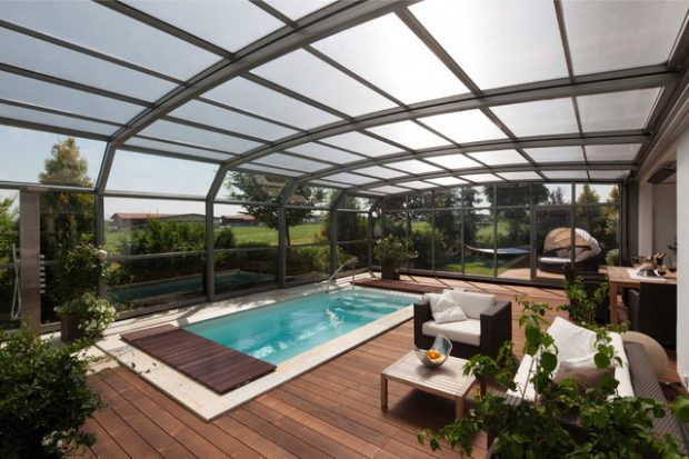 19 Stunning Covered Pool Design Ideas