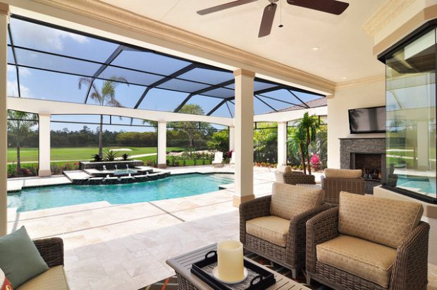 19 Stunning Covered Pool Design Ideas - Style Motivation on Covered Pool Patio Ideas id=81519
