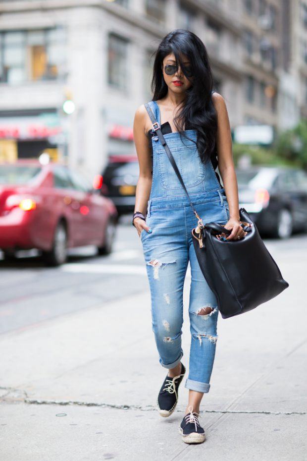 20 Stylish Ways to Wear Denim Dungarees and Overalls this Spring and Summer