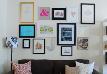 18 Great Ways to Transform Ordinary Walls Into Art Gallery Walls - wall art decor, wall art, home decor, decorating ideas