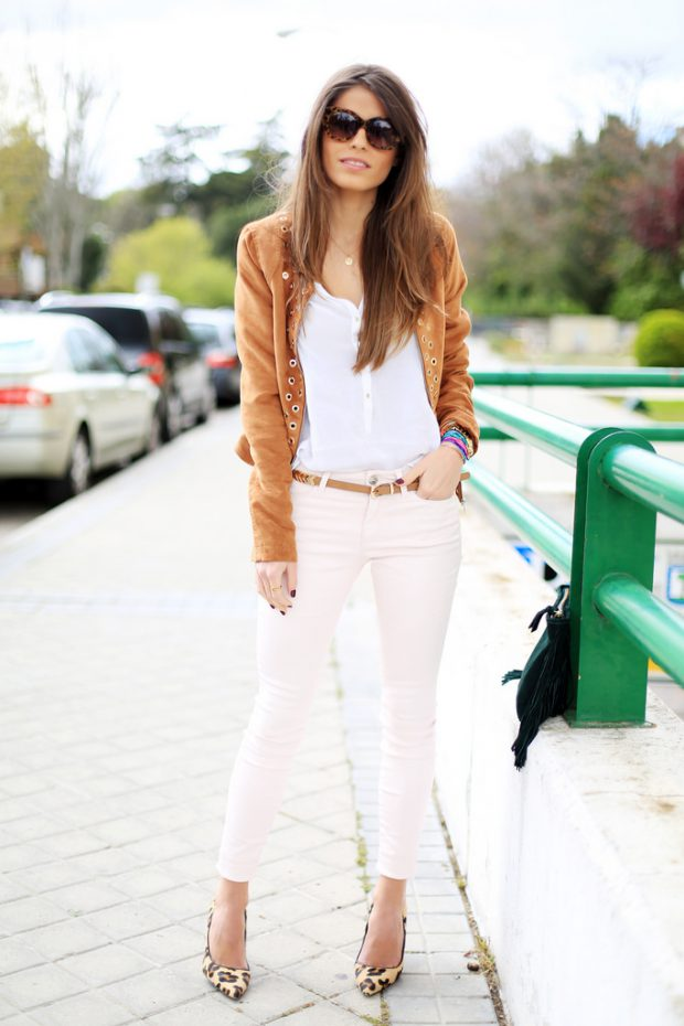 White Jeans for Spring and Summer: 17 Lovely Outfit Ideas (Part 1)