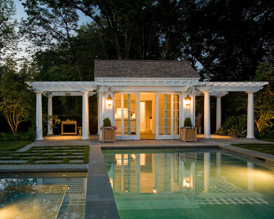 16 Lovely Pool Cabana Design Ideas - Style Motivation