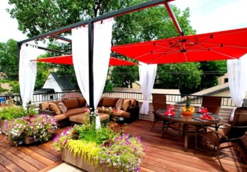 18 Outdoor Umbrella Ideas for Backyard Patios and Decks - patio design ideas, Outdoor Umbrella, deck design idea, backyard ideas, backyard deck