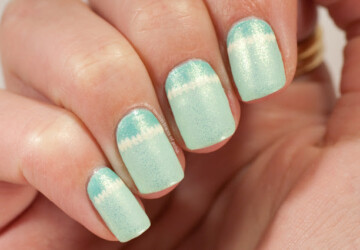 15 Adorable Mint Green Nail Art Ideas Perfect for Summer - summer nail art, nail art ideas, mint nail art, mint green nail art, green nail art