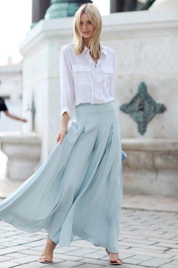 15 Cute and Comfy Summer Outfit Ideas with Harem and Palazzo Pants (Part 2)
