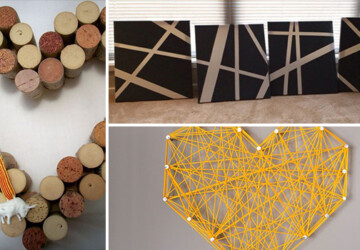 12 Easy Yet Creative DIY Wall Art Ideas For Your Home - wall, tape, recycled, pallet, painting, paint, memories, ideas, idea, Homemade, handcrafted, Easy, do it yourself, diy, crayons, crafts, canvas, buttons, art