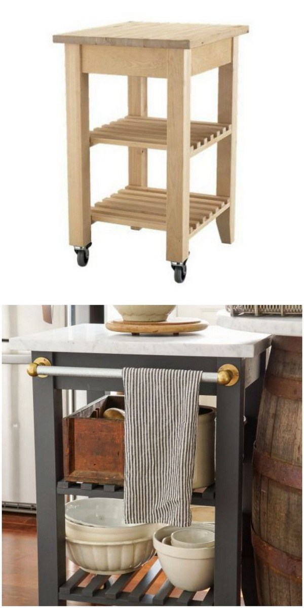 Portable Outdoor Kitchen Island: 12 Fantastic IKEA Hacks You Can DIY To Save Money