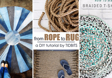 15 Chic DIY Rug Ideas You Can Make Right Away! - shabby, rug, rope, rag, kilim, Homemade, handmade, floor, felt, faux, diy, craft, chic, chevron, carpet