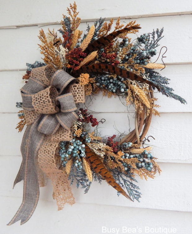 15 Colorful Handmade Summer Wreath Ideas To Refresh Your Front Door (13)