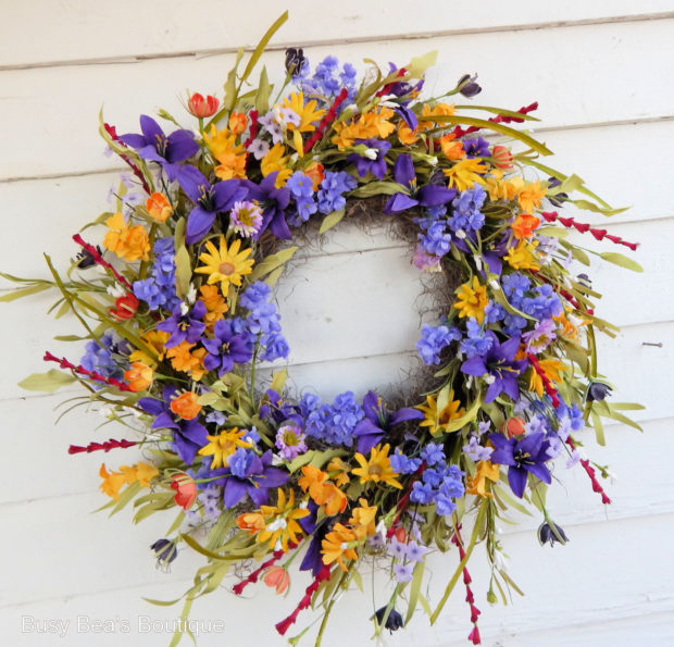 15 Colorful Handmade Summer Wreath Ideas To Refresh Your Front Door (3)