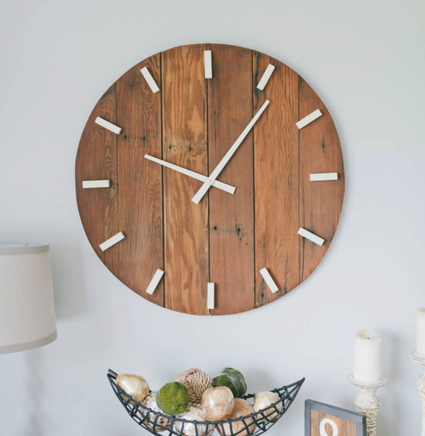 17 Inspirational Handmade Wall Clock Ideas That You Can Express Yourself With (10)