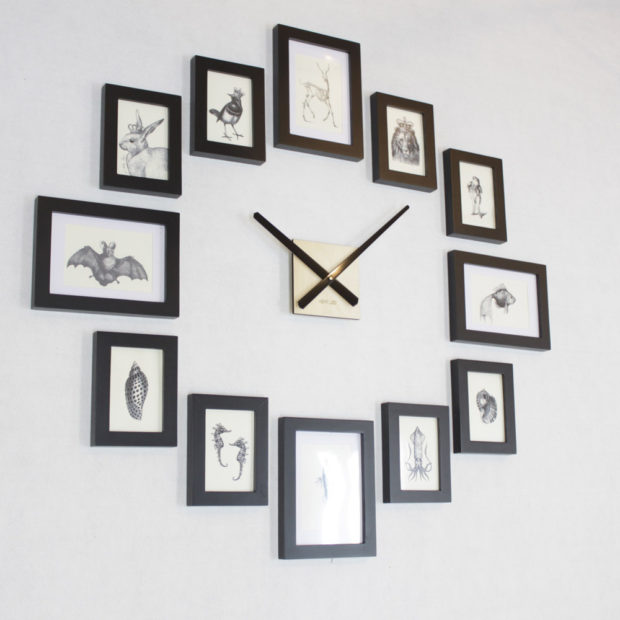 17 Inspirational Handmade Wall Clock Ideas That You Can Express Yourself With (13)