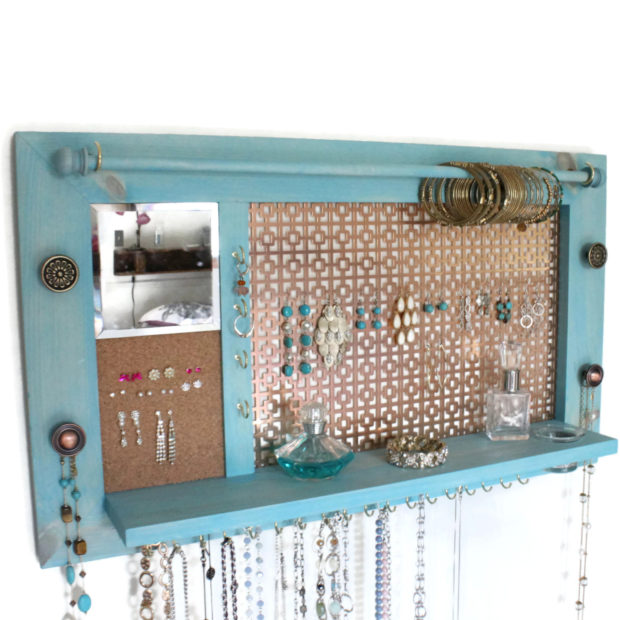 17 Simple But Awesome Handmade Jewelry Organizer Ideas You Can DIY (3)