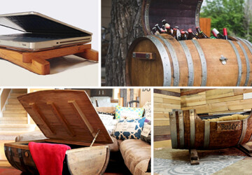 18 Interesting Ideas To Repurpose Old Wine Barrels - wine barrel, wine, table, stave, stand, rack, light, Homemade, handmade, Easy, diy, crafts, craft, coffee table, barrel